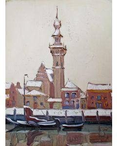 A.J. van Dijck, Gezicht op Veere, 1925