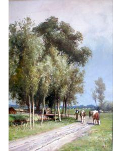 Piet Schipperus, aquarel