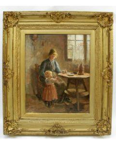 Cornelis Christiaan Zwaan, Moeder en kind