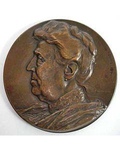Bronzen penning, ontwerp keerzijde: Gerrit Rietveld, 1911