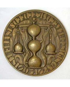 Chris van der Hoef, bronzen penning 25 jaar Nederlandsche Chemische Vereniging, 1928