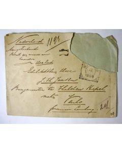 Handgeschreven envelop van de echtgenoot van Mata Hari, 1898.
