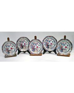Serie Chinees Rose Imari borden, 18e eeuw