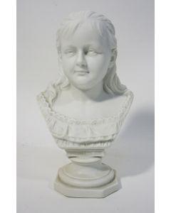 Biscuit beeld, Koningin Wilhelmina, ca. 1895