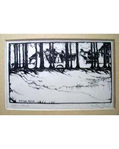 Anton Pieck, houtsnede, 1922