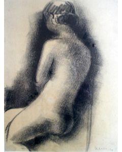Frits Klein, Zittend naakt, 1940