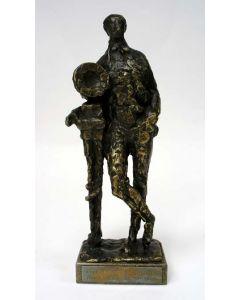 Bronzen beeld, Edison, door Pieter d'Hont
