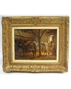 Wouter Verschuur Junior, Paarden in een stal
