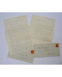 Jan Sluijters, 2 handgeschreven brieven, 1952