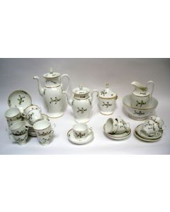 Porseleinen thee- en koffieservies, Parijs, ca. 1830