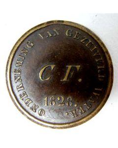 Waardepenning, Onderneming van Gezuiverd Water, 1828