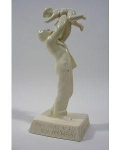 Wit aardewerk beeldje, Zuid-Holland, Gouda, ca. 1935