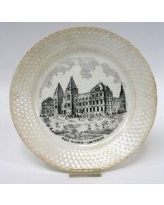 Aardewerk bord, Rijksmuseum, Petrus Regout, 1889