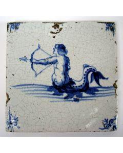 Tegel, zeemeerman, 17e eeuw