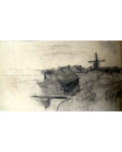 Kees Verweij, Spaarndam, tekening