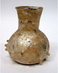 Romeins glazen flesje met noppen, 2e/3e eeuw