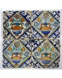 Kwadraattegels klein formaat, 17e eeuw