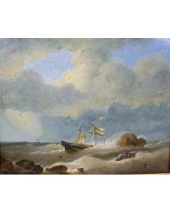 G.C. Hoendervoogt, Schip in nood, 1845