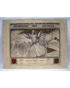 Anto Carte, Erediploma van de Wereldtentoonstelling van Antwerpen, 1930
