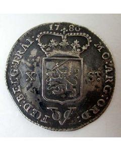 VOC, halve gulden 1786