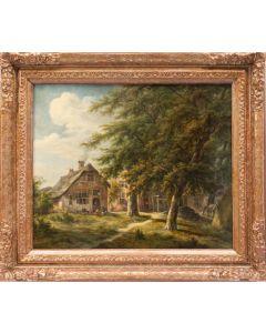 Egbert van Drielst, 'Huizen en een smidse in De Haar in Utrecht', 1814