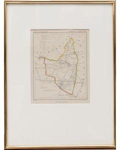 Gemeentekaart Renswoude, uit de Kuyper-atlas, 1865