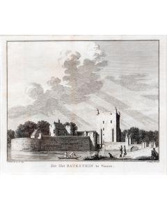 Kopergravure, Het slot Batestein te Vianen, 1749