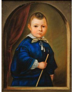 J.A.M. Haak, jongensportret, 1854
