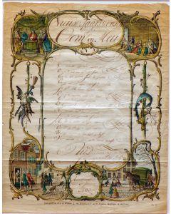Nieuwjaarswensch, door Jannigje van der Meijden, Ammerstol 1801