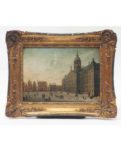 Hollandse School, De Dam en het Koninklijk Paleis, 19e eeuw