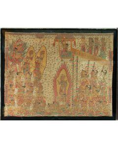 Balinese schildering op textiel, Kamasan, 19e eeuw