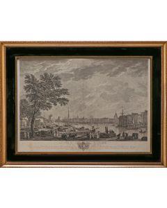 C.N. Cochin, Le port de La Rochelle, vû de la petite Rive, ets, 1767