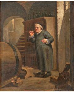 F. Bruchtraupp, 'Een eerwaarde liefhebber', olieverf, 1873