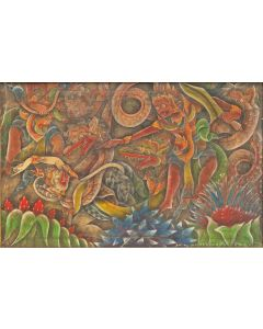 I Dewa Nyoman Leper, temperaschilderij