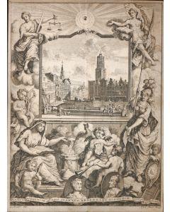 Stadsgezicht Utrecht, J. Broedelet, ets, ca. 1720