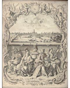 Gezicht op Utrecht, J. Broedelet, ets, ca. 1720