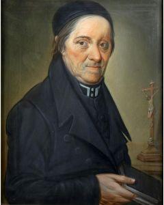 Theodoor Bohres, portret van een katholieke priester, 1832