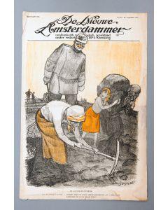 Jan Sluijters, Politieke voorstelling Eerste Wereldoorlog, litho, 1916