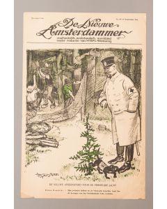 Jan Sluijters, De zwijnenjacht van Prins Hendrik, litho voor de Nieuwe Amsterdammer, 1916