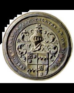 Lakstempel van de Henegouwse edelman Pierre Ernest Delattre, 17e eeuw