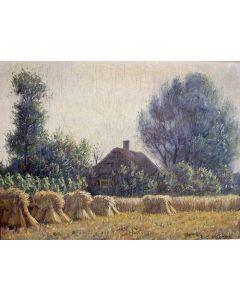 Jan Eversen, Veluwse boerderij met korenveld