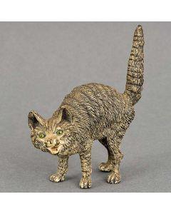 Weens bronzen beeld, blazende kat, 19e eeuw