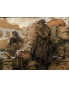 Herman Moerkerk, Belgische vluchtelingen in Stramproy, 1918