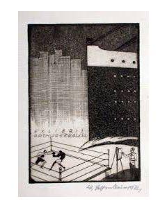 Walter Helfenbein, ex-libris, 1922