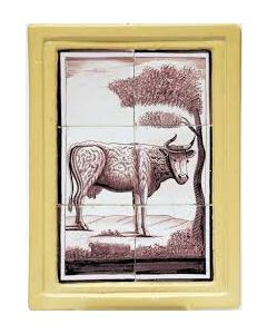 Tegeltableau, koe, 19e eeuw