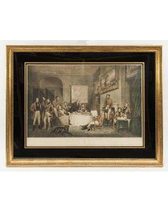 'The Melton breakfast', Mezzotint in lijst, Engeland 1839