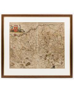 Kaart van het Hertogdom Limburg en het Graafschap Valkenburg, F. de Wit, 1680