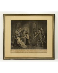 'Mary Queen of Scots, receiving from Lord Buckhurst & Beale the sentence of Death pronounced against her & ratified by Parliament', ets, ca. 1810