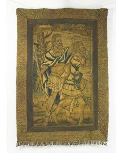 Fragment van een verdure gobelin, Frans of Vlaams, 17e eeuw