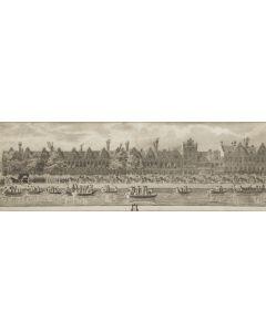 Kopergravure, 'Lijkstatie van Wolter Jan Gerrit baron Bentinck', overleden aan zijn verwondingen, opgelopen in de Slag bij de Doggersbank, 1781